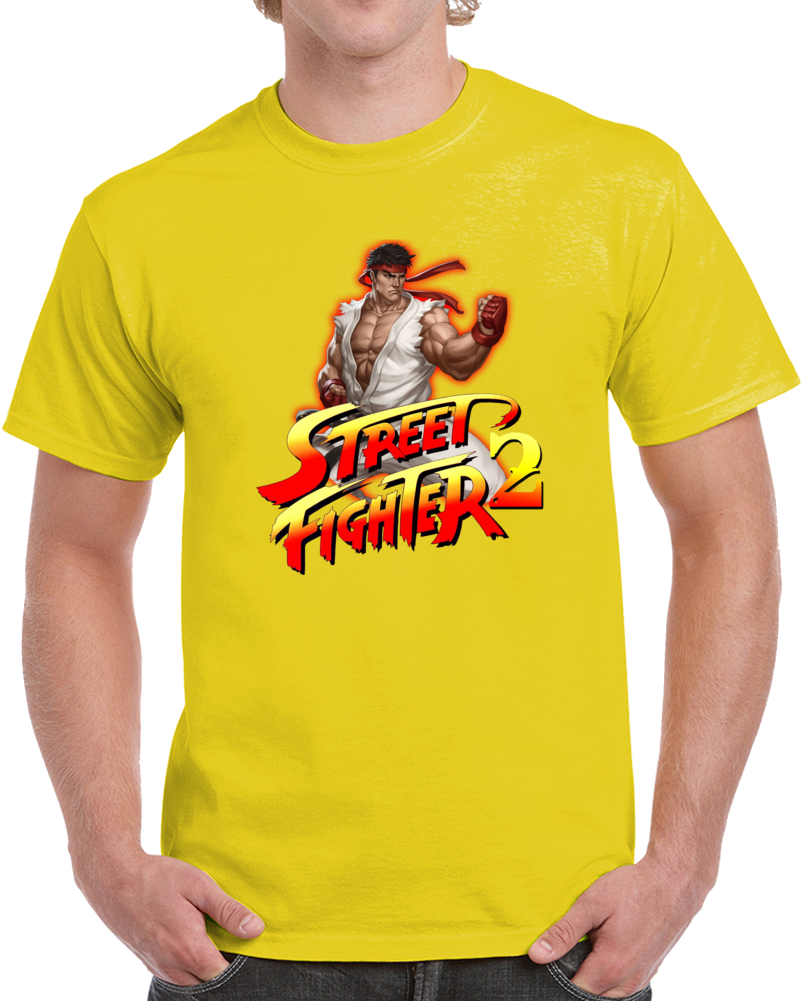 Street Fighter Ii Video Game T Shirt The World Warrior Gamer Unisex Top