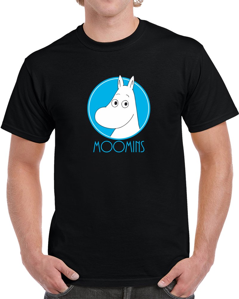 Moomins T Shirt Moomintroll Swedish Anime Cartoon Tv Show Snufkin Top