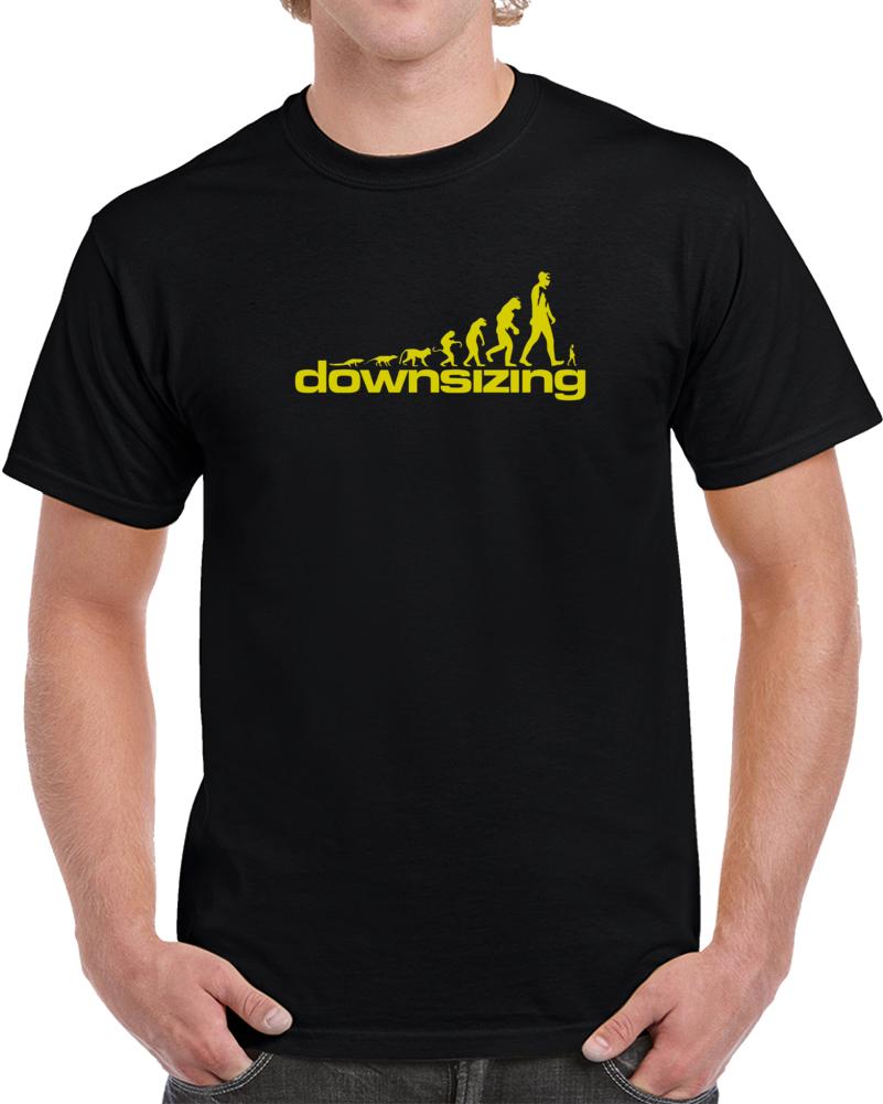 Downsizing 2k17 Movie T Shirt Shrink Humans 5 Inches Tall Matt Damon Top