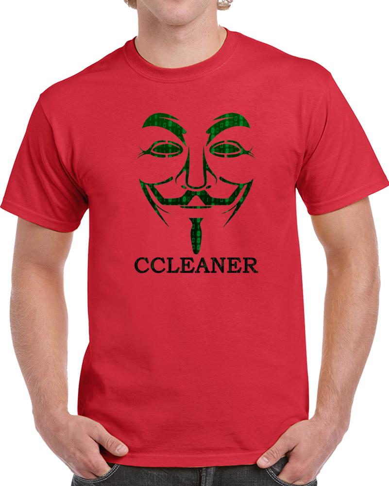 Hacker Mask T Shirt Ccleaner Virus Science Student Computer Geek Nerd