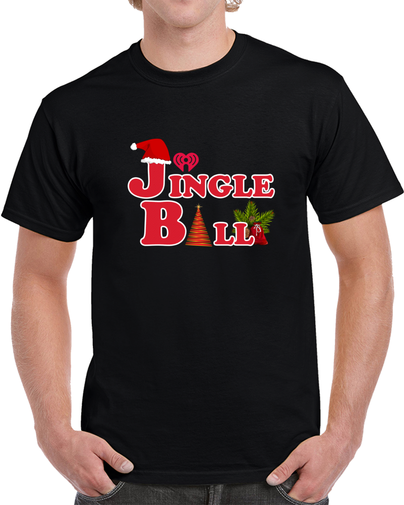 Jingle Ball Tour T Shirt Annual Concert Music Event Christmas Tree Top