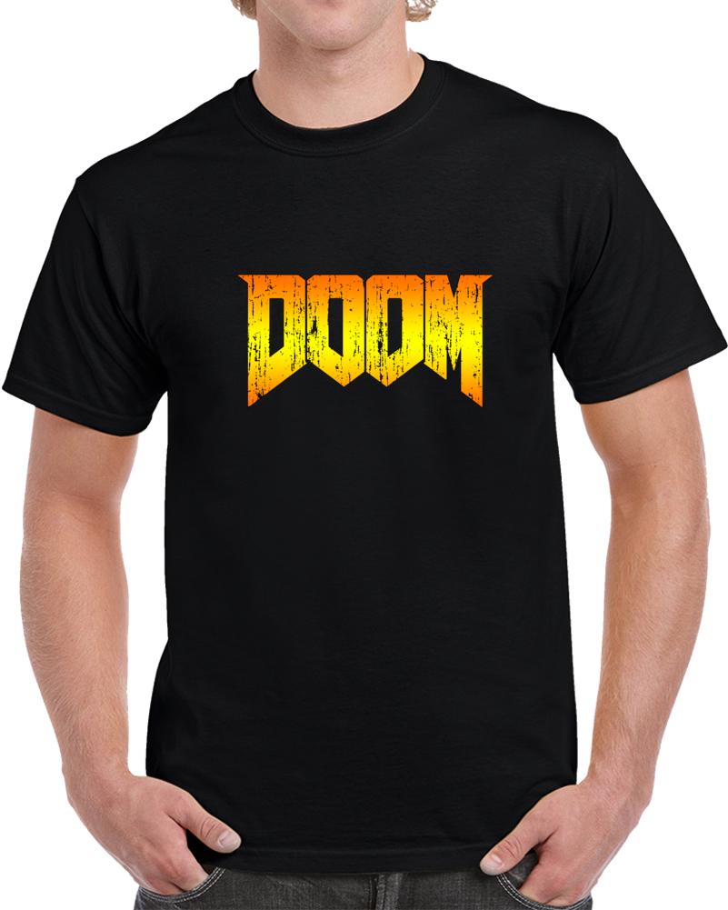 Doom T Shirt Movie Pc Gamer Geek Top Space Marines Mars Unisex 1993 Tee