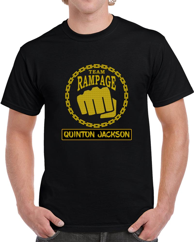 Quinton Jackson Team Rampage UFC MMA T Shirt Middleweight Championship