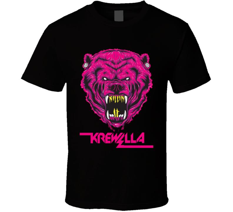Krewella T Shirt Music Concert Hip Hop Bear Beast Enjoy The Ride Tee