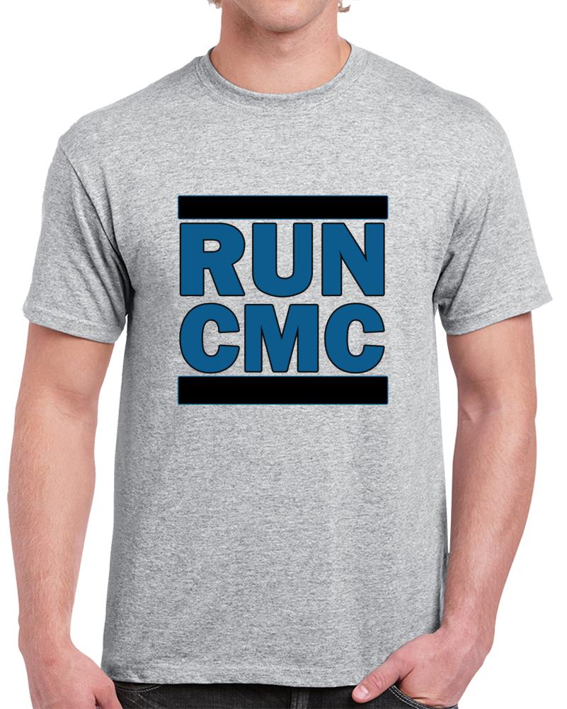 Carolina Panthers RUN CMS Fenpony T Shirt Christian Mccaffrey NFL Tee