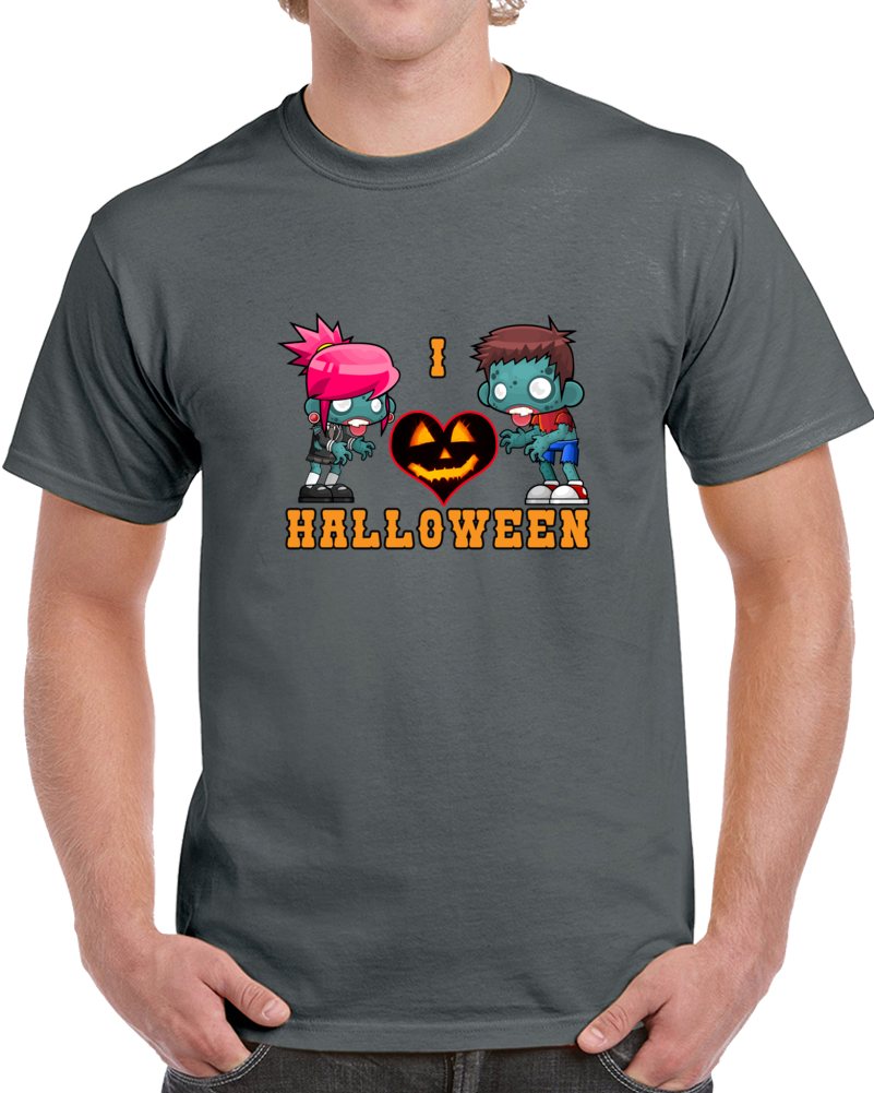 I Love Halloween T Shirt Funny Cute Nerdy Scary Nights Halloween Movie