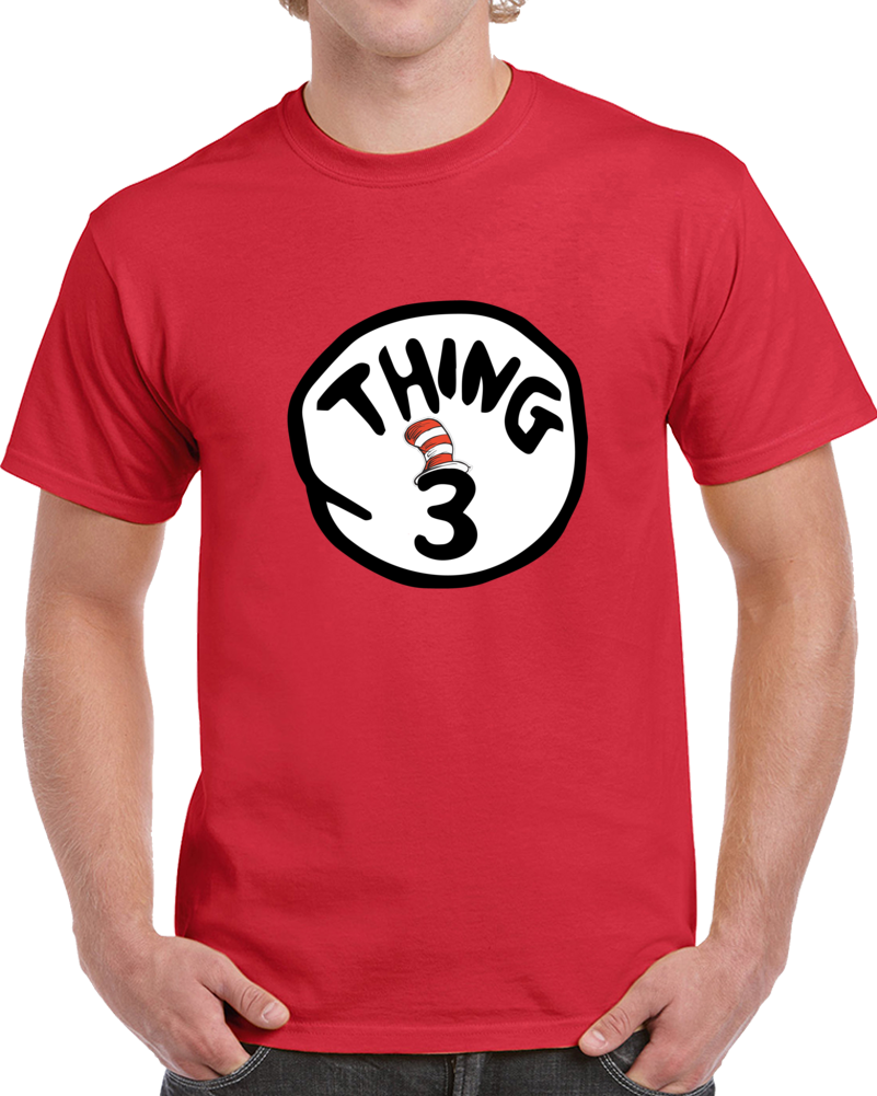 My Party Shirt Thing 3 T-shirt Cat In The Hat Movie Dr Seuss Book Top