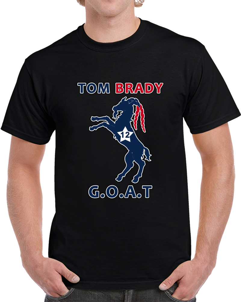 Tom Brady Goat #12 T-Shirt Greatest Of All Time New England Patriots Top