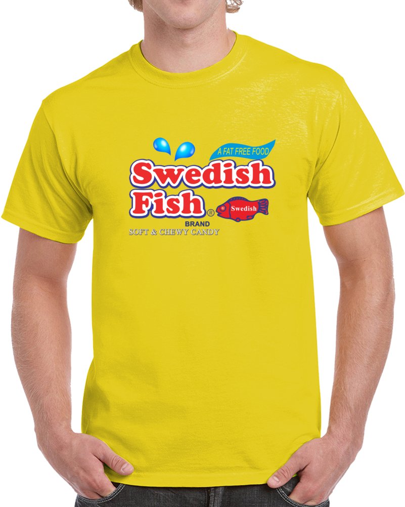 Swedish Fish Soft And Chewy Candy T Shirt Sweats Candy Unisex Top Tee