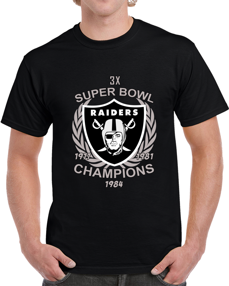 2018 Nfl Oakland Raiders 3 Time Super Bowl Champions Unisex T-shirt Top