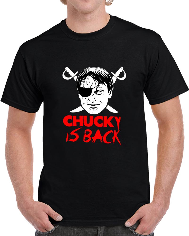 Chucky Is Back Oakland Raiders T Shirt Jon Gruden Nfl Funny Unisex Top