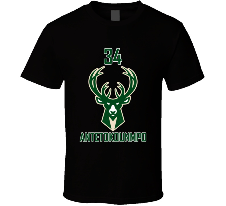 #34 Giannis Antetokounmpo Milwaukee Bucks Nba Joe Prunty Unisex Top T Shirt