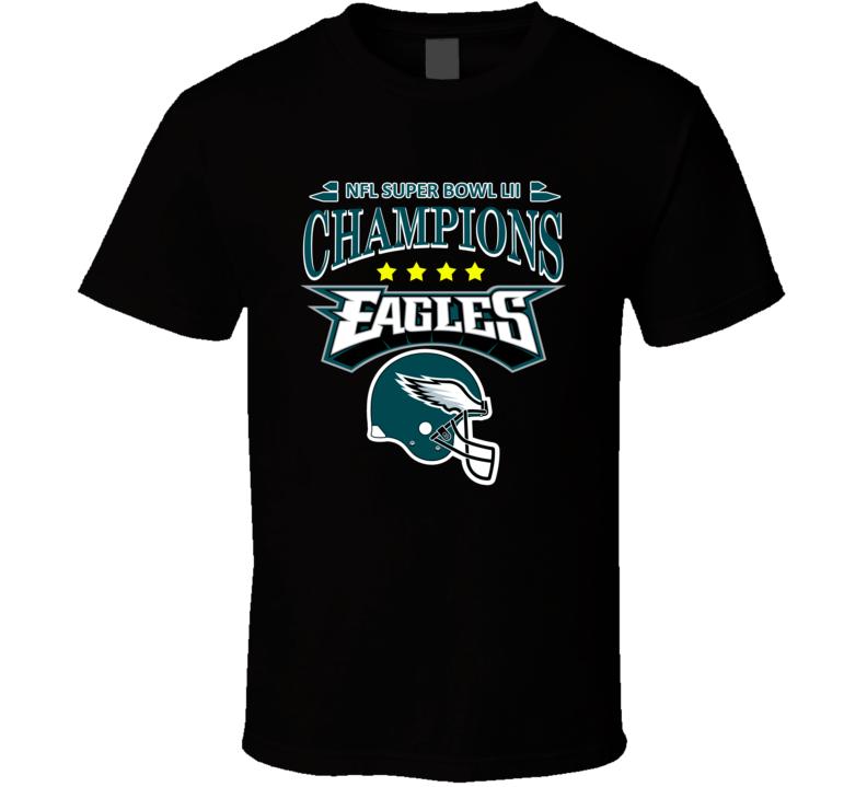 Nfl Super Bowl Lii Champions 2018 Philadelphia Eagles Shirt Unisex Top
