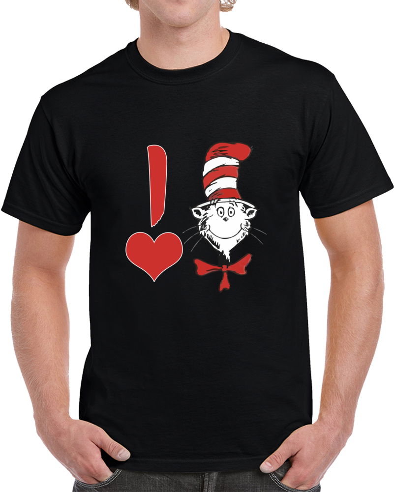 Dr. Seuss Valentine I Heart The Cat In The Hat Baby T-shirt Kids Unisex Top