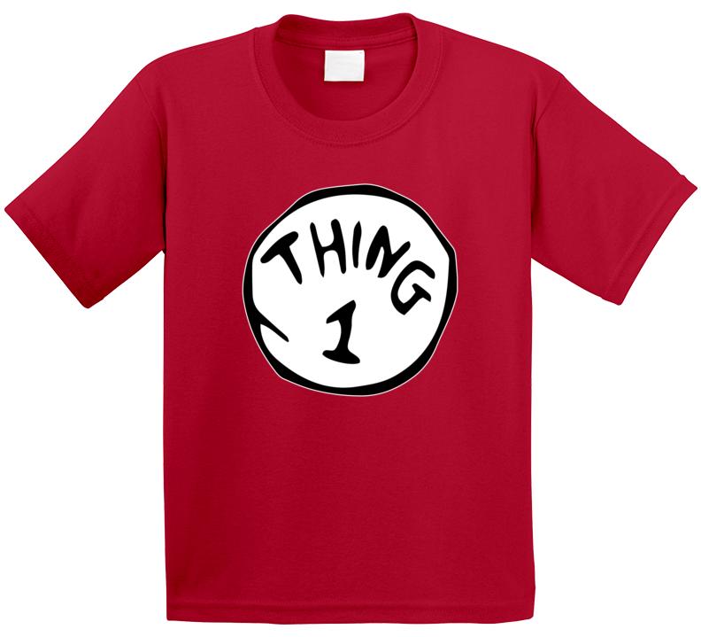Dr Seuss Cat In The Hat Thing 1.2.3. T-shirt Kids Men Women Unisex Top