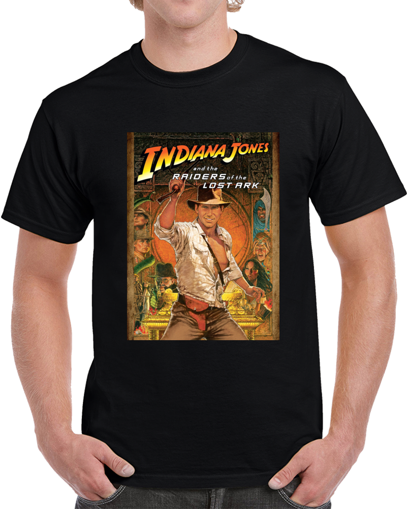 Indiana Jones And The Raiders Of The Lost Ark Movie Fan T Shirt Film Top