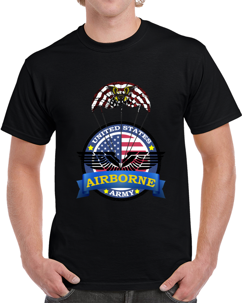 U.s. Army Airborne True Hero T-shirt Army Veteran Military Logo Unit
