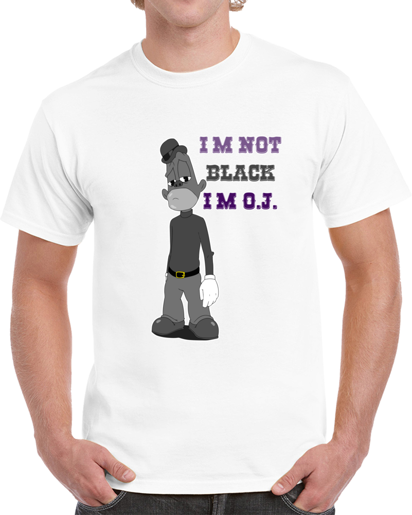 Jay Z Jaybo Da Story Of Oj Cartoon T-shirt I Am Not Black I Am O.j.