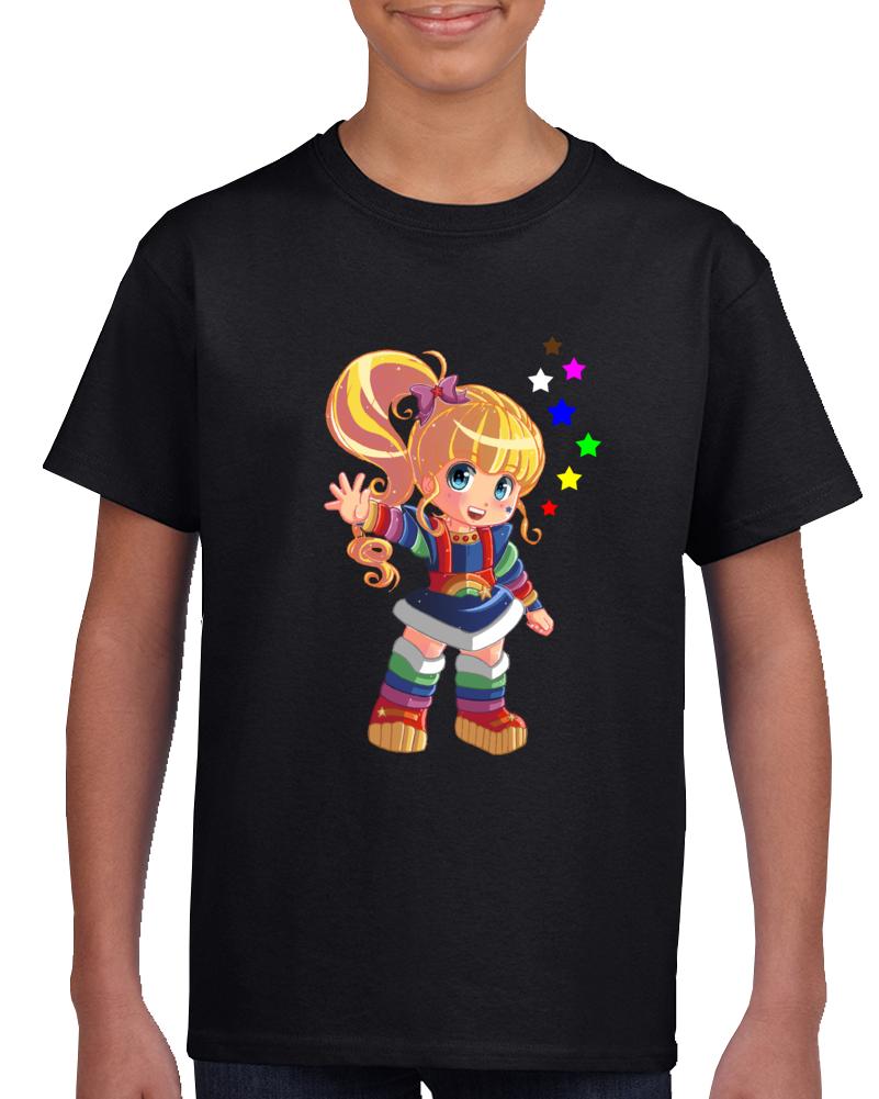 Rainbow Brite 80s Baby Retro Girl Cartoon Tv T-shirt Chasing Rainbows
