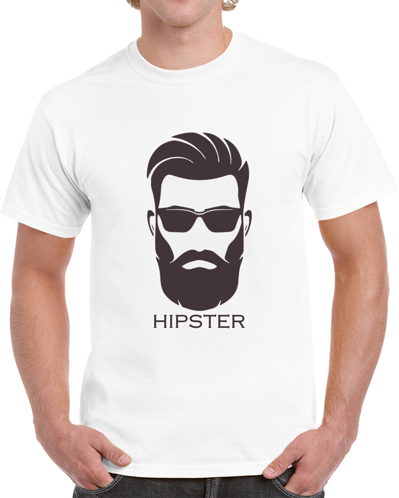 Bearded Hipster T-shirt  Cool Hipster With A Beard Glasses Unisex Top