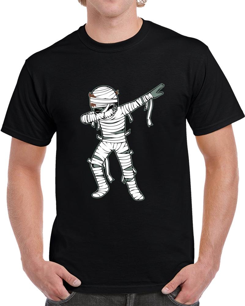 Dabbing Mummy Halloween T-shirt Creepy Dab Dance Pose Skeleton Tee Top
