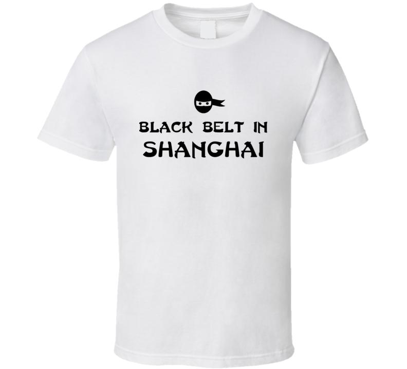 Black Belt In Shanghai Card Game Player T Shirt