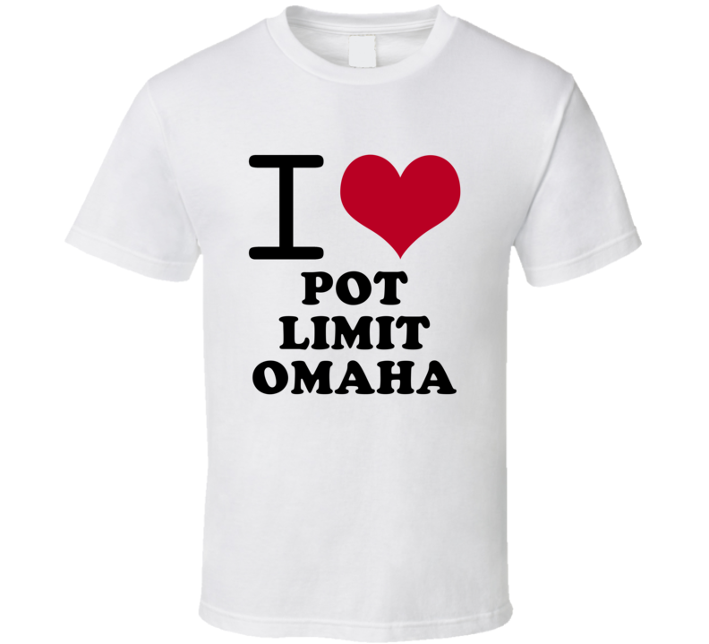 I Love Pot Limit Omaha Popular Card Game Classic Heart T Shirt