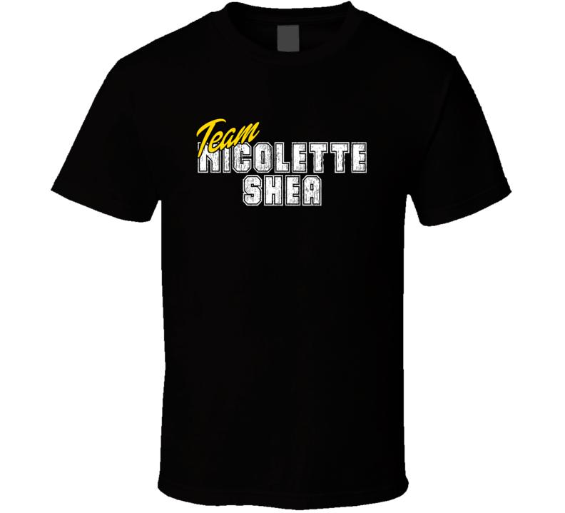 Team Nicolette Shea Poker Player Fan Support T Shirt