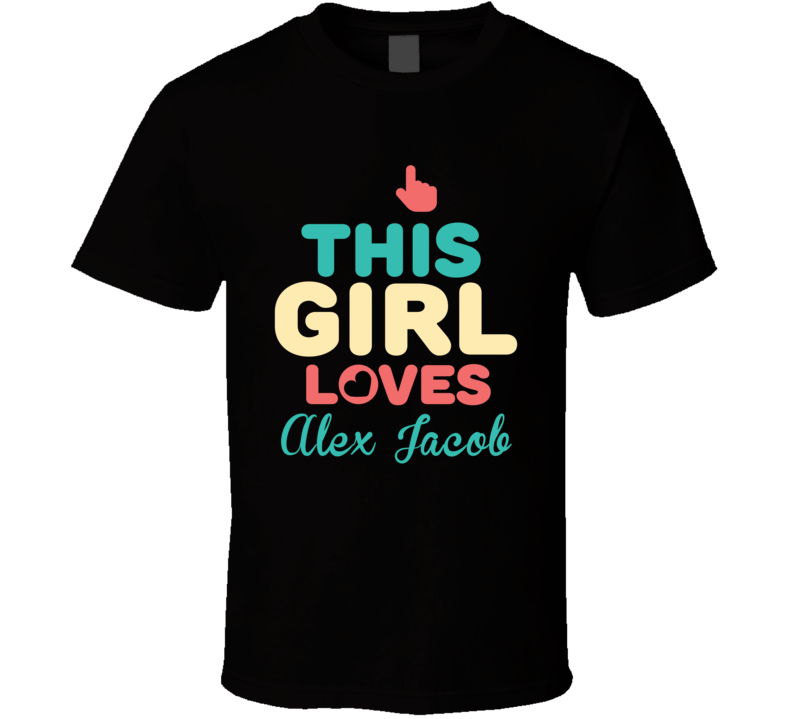 This Girl Loves Alex Jacob Retro Style Poker Player Fan T Shirt