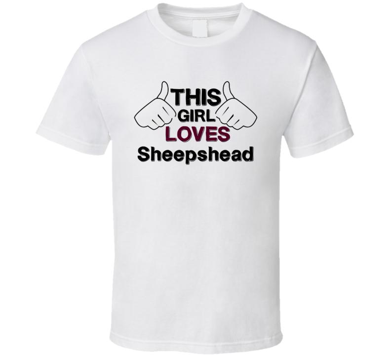 This Girl Loves Sheepshead Popular Card Game Fan Love T Shirt