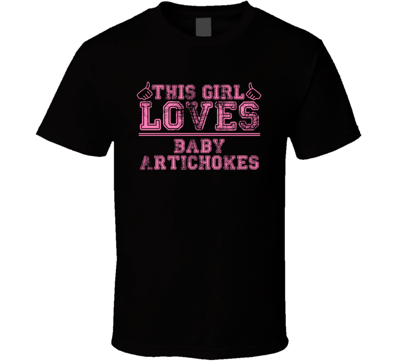 This Girl Loves Baby Artichokes Popular Card Games Distressed Style T Shirt