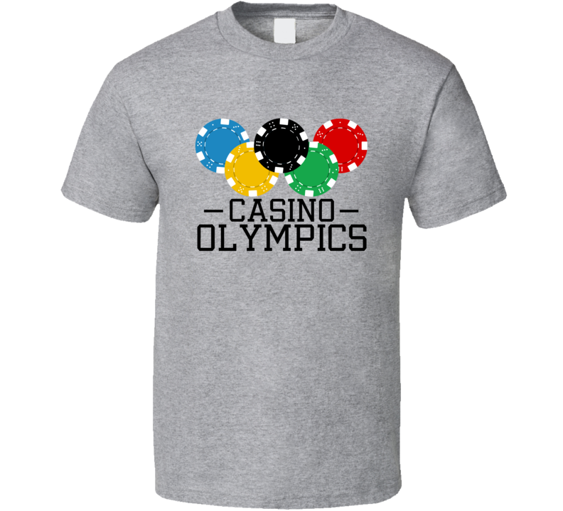 Casino Olympics Poker Chips Las Vegas Gambling Player T Shirt