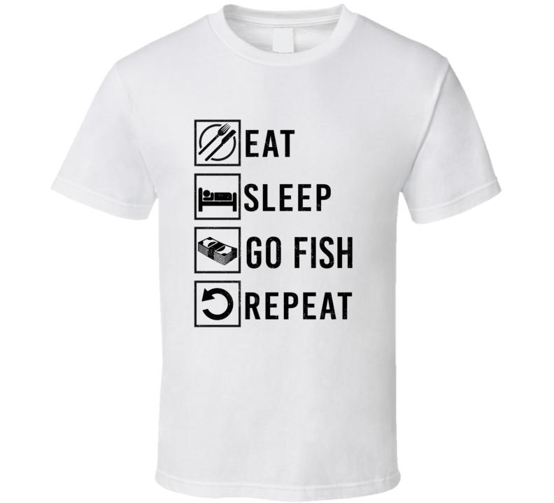 Eat Sleep Gamble Repeat Go fish Card Games T Shirt