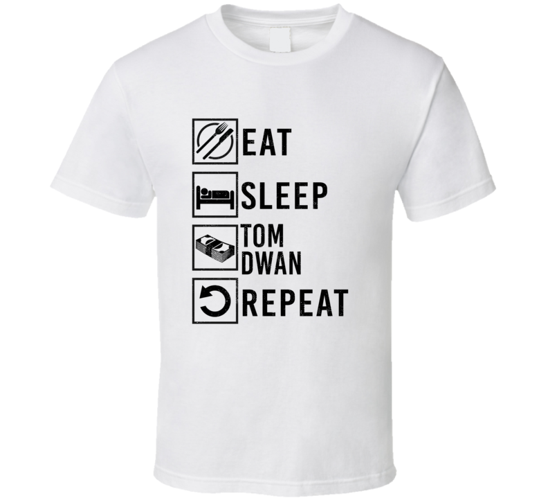 Tom Dwan Eat Sleep Gamble Repeat Pro Gamblers T Shirt