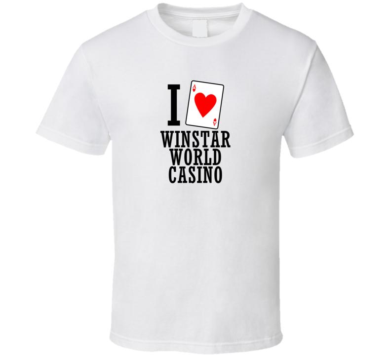 I Heart Winstar World Casino Gambling T Shirt