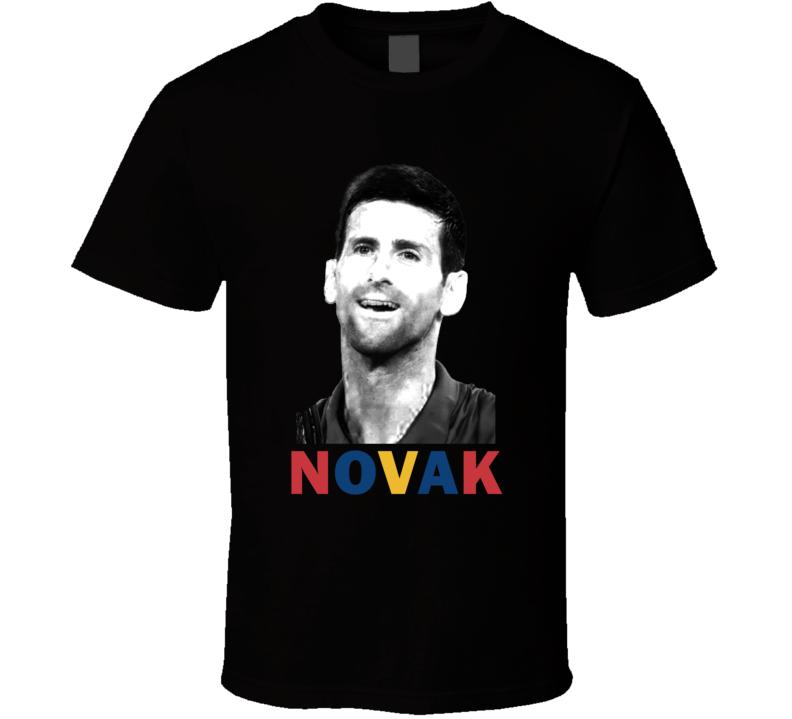 Novak Djokovic Serbia Serbian Tennis Fan Cool Gift T Shirt
