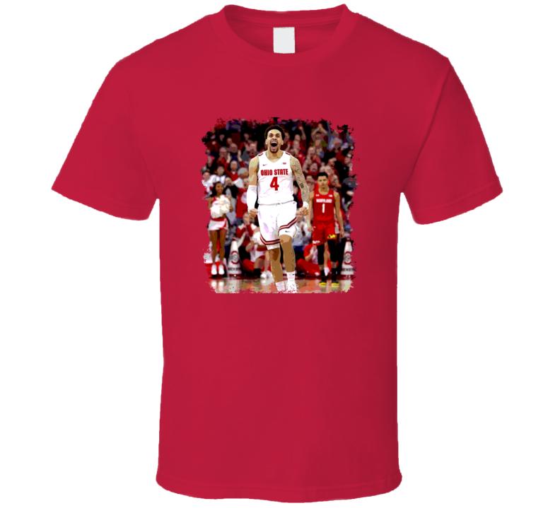 Duane Washington Jr Ohio State Basketball March Grunge Fan T Shirt
