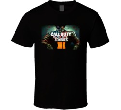 Call of Duty Black Ops Zombies III 3 Video Game T Shirt