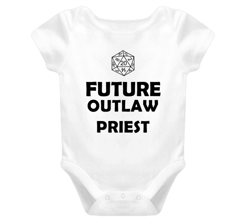 Future Outlaw Priest Role Playing Game Baby One Piece