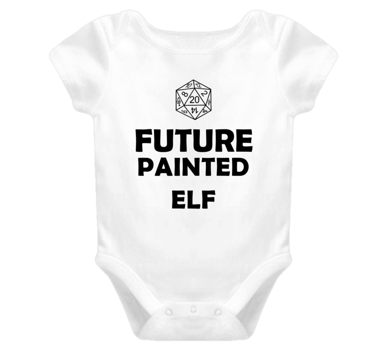 Future Painted Elf Role Playing Game Baby One Piece