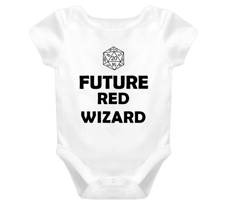 Future Red Wizard Role Playing Game Baby One Piece