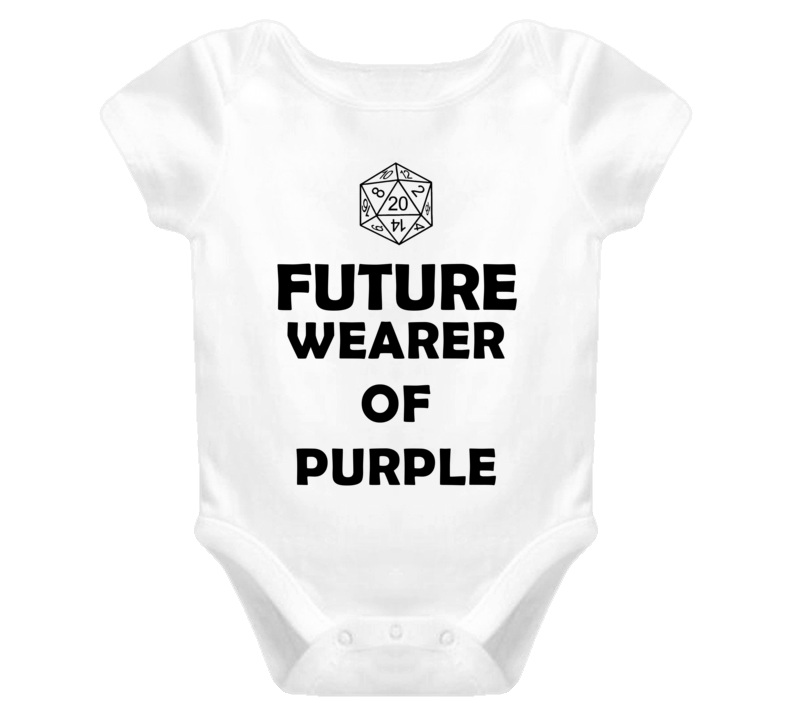 Future Wearer of Purple Role Playing Game Baby One Piece