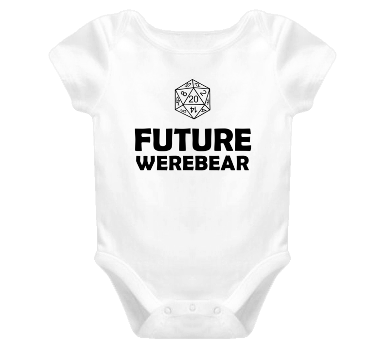 Future Werebear Role Playing Game Baby One Piece