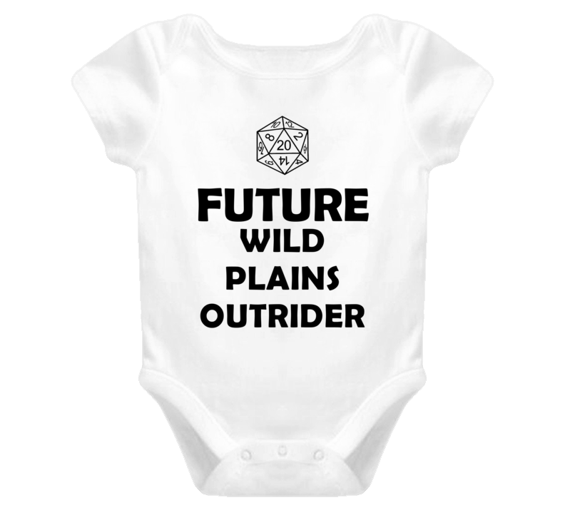 Future Wild Plains Outrider Role Playing Game Baby One Piece
