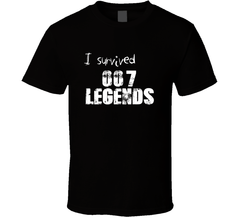 I Survived 007 Legends Xbox 360 Video Game T Shirt