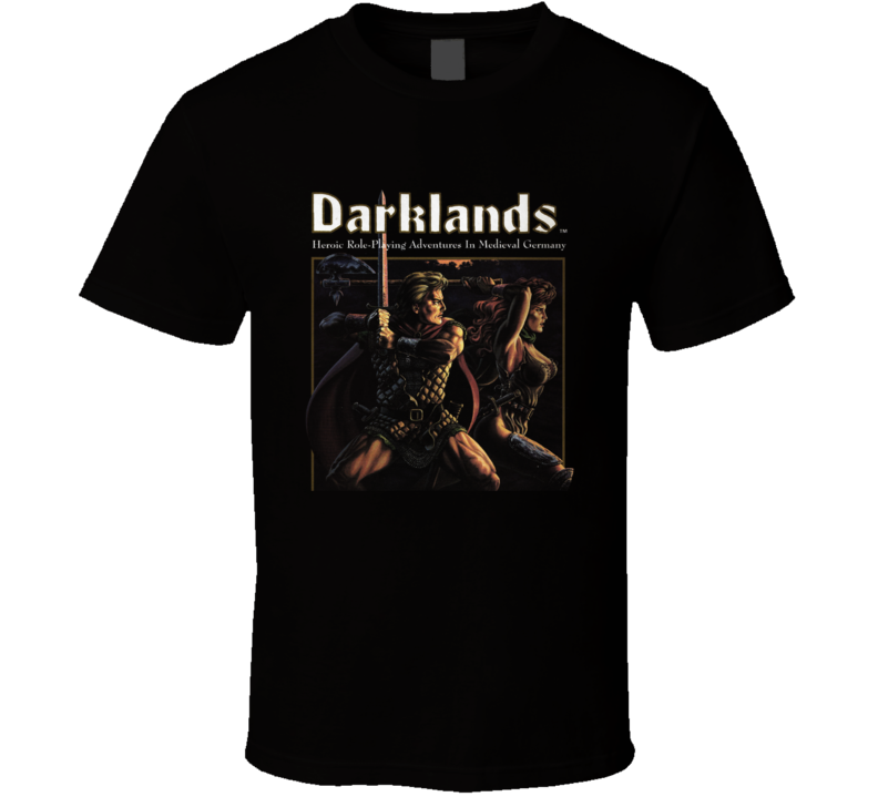 Darklands Classic Video Game Rpg Crpg Fantasy Cover T Shirt