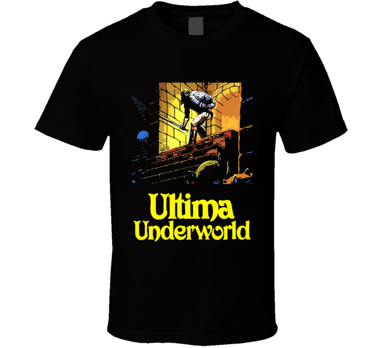 Ultima Underworld Video Game Rpg Crpg Fantasy Art Black T Shirt