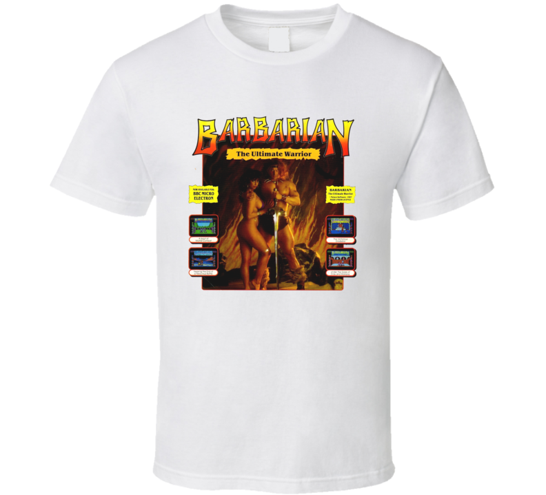 Barbarian Ultimate Warrior Retro Video Game Vintage Ad T Shirt
