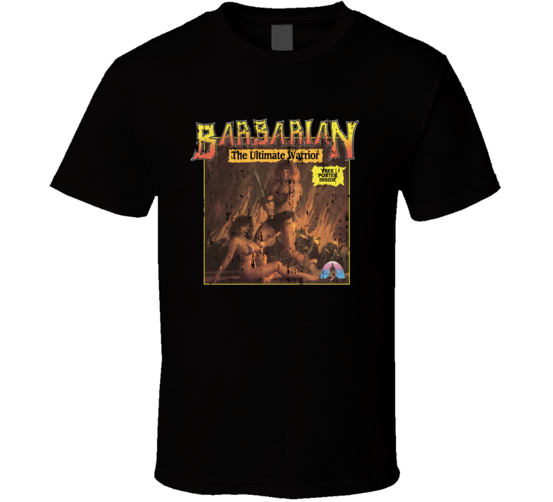 Barbarian Ultimate Warrior Retro Video Game Vintage Cover Aged T Shirt