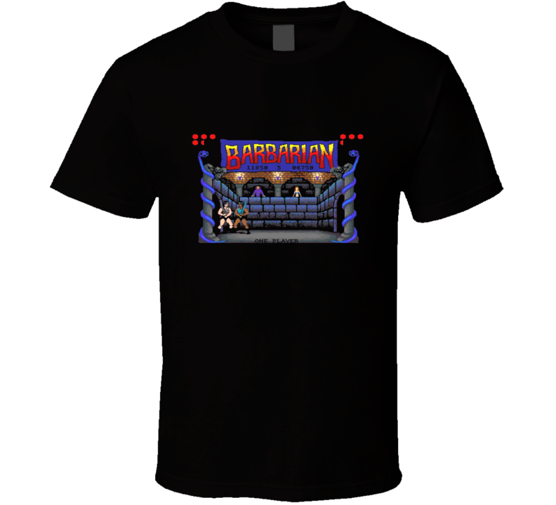 Barbarian Retro Video Game Screenshot Black T Shirt
